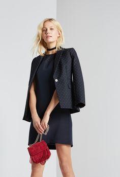 Claudie Pierlot   Dress RETURN   Blazer   Navy   A-Line   Short sleeve  Workwear   OL