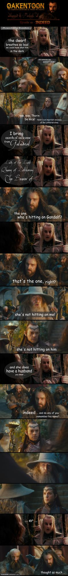 She's hitting on.. who? RT Oakentoon #45: Indeed by PeckishOwl #lotr