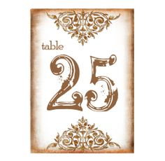 Vintage Grunged Table Numbers or Wine Bottle Labels  by dearemma, $2.50