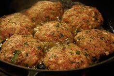 Rezept für Faschierte Laibchen mit Kartoffel-Sellerie Püree