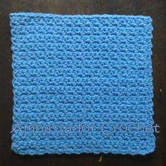 Grit Stitch (version 1) Dishcloth - free pattern @ ambassadorcrochet
