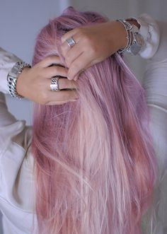 pastel, hair, jewelry, silver, purple, pastel hair, indie fashion, hipster, accessory