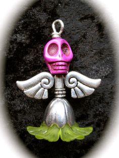 """Inte som andra änglar… """"lila/grön"""" - En lite annorlunda ängel, men ja..."""
