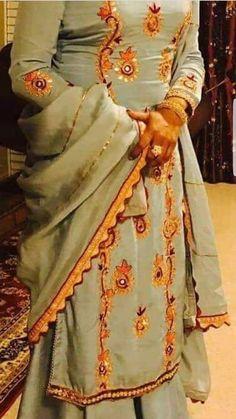 Punjabi Dress, Pakistani Dresses, Punjabi Bride, Designer Punjabi Suits, Indian Designer Wear, New Style Suits, Plazzo Suits, Patiala Salwar Suits, Desi Wedding Dresses