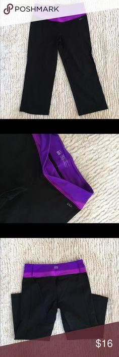VSX Capri Workout Pants Victoria's Secret Sport VSX Capri workout pants w/ purple detail along waist line. Victoria's Secret Pants Track Pants & Joggers