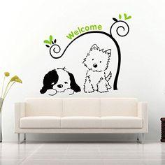 Chien Chat Bienvenue Stickers muraux amovibles Wall Decal... https://www.amazon.fr/dp/B01BU6NWBG/ref=cm_sw_r_pi_dp_hdhAxbR5CC44Z