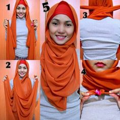 hijab tutorial no pins