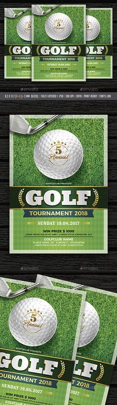 Golf Tournament Flyer Flyer template, Event flyers and Fonts - golf tournament flyer template