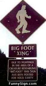 Bigfoot Sign