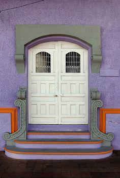 Granada, Nicaragua. colorful door and architecture abounds in Nicaragua, especially in the Spanish colonial of Granada