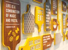 Cafe Shop Design, Coffee Shop Interior Design, Restaurant Interior Design, Food Court Design, Pizzeria Design, Cafeteria Design, Bakery Decor, Supermarket Design, Cafe Wall