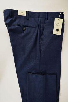 NWT ZANELLA pantalone uomo CLASSICO 100% lana BLU P/E tg. 48-50-52-54-60(IT)