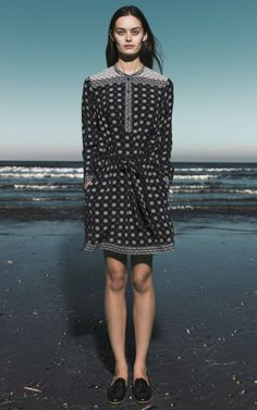 Mosaic Tile Print Drawstring Dress by Sea for Preorder on Moda Operandi