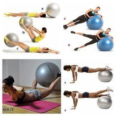 Secuencia de ejercicios con bola estabilizadora