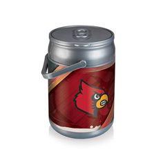 Can Cooler - Silver/Gray (University of Louisville - Cardinals) Digital Print