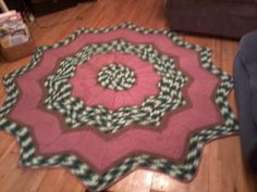 round ripple afghan I made for stepdaughter