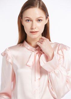 22MM Vintage Poet Sleeve Silk Shirts