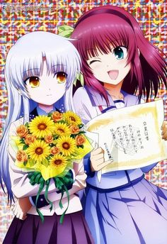 Nice anime artbook from Angel Beats! uploaded by Sarkas - Yuri and Tenshi 6 5 Anime, Anime Angel, Anime Shows, Anime Art, Anime Girls, Angel Beats!, Manga Girl, Yuri, Baka To Test