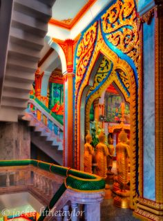 Stairs Wat Chalong Inside Phuket Thailand