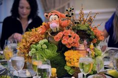 Tigger centerpiece - Bel Air Hotel - Bel Air, CA, Baby shower inspiration, Mindy Weiss Party Planning