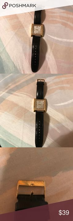 "Mary Kay Watch Da&Night Stainless Gem Bezel 9"" Long Watch. Genuine leather band. Mary Kay Accessories Watches"