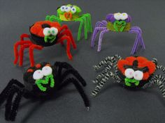 Ruby Murrays Musings: Tutorial Kids Halloween Crafts - Milk Bottle Top Spiders