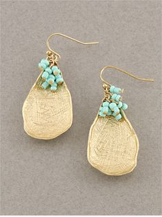 Turquoise Cala Teardrop Earrings on Emma Stine Limited