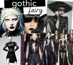Fashion Trends Fall 2014: The Gothic Fairy trend tells us the story of a gothic princess who wears lace and velvet; a feminine, delicate woman with a dark side. For make up we are going to see dark lips and pale skin. We will also see religious symbolism in prints, and lot of embroidery. Studs, crosses, brocade, deep florals, and dark colours are also essential elements.
