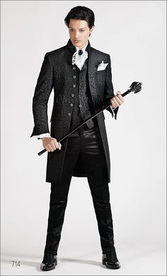 ONGala 714-0 Mens Suits, Groom Suits, Victorian Era Fashion, Gothic Men, Beautiful Costumes, Gothic Wedding, Fashion Plates, Wedding Suits, Dress To Impress