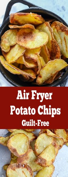 Crunchy perfect potato chips with no guilt because they are made in an air fryer. You can have a bowl or even two. Crunchy perfect potato chips with no guilt because they are made in an air fryer. You can have a bowl or even two. Air Fryer Chips, Air Fryer Potato Chips, Air Fryer Baked Potato, Potato Chips Baked, Air Fry Potatoes, Yellow Potatoes, Air Fryer Dinner Recipes, Air Fryer Oven Recipes, Air Fryer Recipes Potatoes