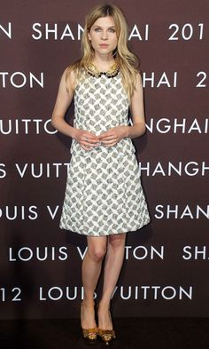 Clémence Poésy at the Louis Vuitton Fashion Show in Shanghai. We love that glitzy Peter Pan collar!