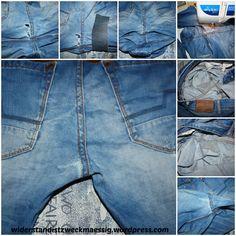 widerstandistzweckmaessig: Flicken von einem Loch in der Jeans - Jeanshosenreparatur