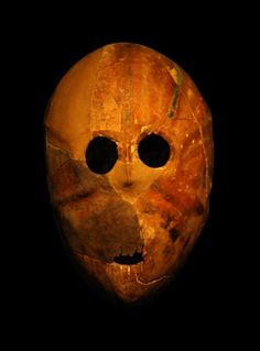 One of severel Neolithic masks 7000 BC, found in the Judean desert, probably the oldest masks in the world. (The region is named after the Israelite tribe of Judah, which dominated the area through the Iron Age and established the Kingdom of Judah, which lasted until 586 BCE).