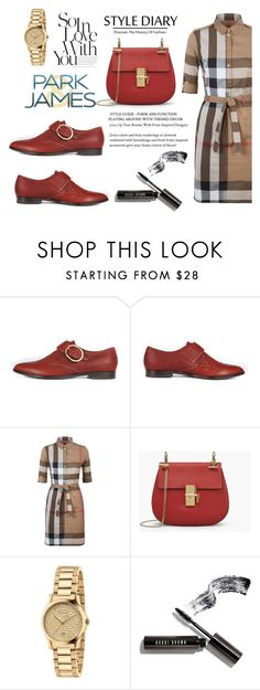 """""""SHOP - Park & James"""" by parkandjames ❤ liked on Polyvore featuring Burberry, Gucci and Bobbi Brown Cosmetics"""