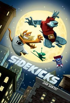 *WINNER*Sidekicks by Dan Santat. In this graphic novel, Captain Amazing feels he is too old to be a reliable superhero. He tries to hire a new sidekick, but his super powered pets have different ideas.