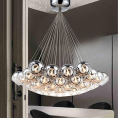 136.00$  Watch now - http://alilly.worldwells.pw/go.php?t=32724478534 - Modern Led Pendant Lights For Living Dining Room Bedroom Ideal Glass Bubble Home Deco G4 Hanging Pendant Lamp Fixture hanglampen