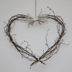 Heart woven from beech twigs created by My Flower Patch. Flower Patch, My Flower, Flowers, Willow Weaving, Bobs, Fundraising, Patches, Hearts, Valentines