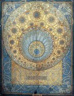 Mucha Sketch for the Ginzkey carpet. Art Nouveau | JV