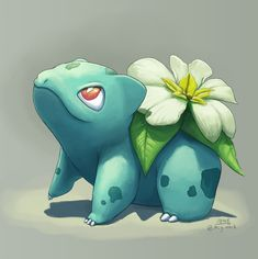Primula Bulbasaur!  (Also I'm accepting commissions starting this year, so shoot me a message if you're interested)