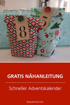Free sewing instructions: Fast advent calendar - Home Decor -DIY - IKEA- Before After Christmas Crafts Sewing, Preschool Christmas Crafts, Sewing Crafts, Christmas Diy, Sewing Projects, Easter Crafts, Calendrier Diy, Stitch Crochet, Diy Advent Calendar
