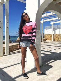 Look de entretiempo: sudadera + short – Mi cóctel de moda – Ibiza fashion blogger & influencer