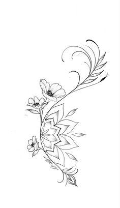 Pretty Tattoos, Cute Tattoos, Beautiful Tattoos, Body Art Tattoos, Small Tattoos, Floral Tattoo Design, Mandala Tattoo Design, Flower Tattoo Designs, Mandala Flower Tattoos