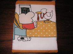 Ziggy cartoon handmade zipper fabric iPad by alwaysamazingdesigns, $14.99