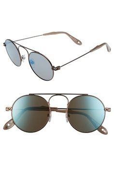 Free shipping and returns on Givenchy 48mm Retro Sunglasses at Nordstrom.com. Stylish round frames define versatile Italian sunglasses with eye-catching appeal.