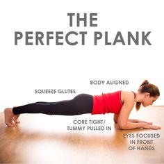 Planks are one of the best exercises for tightening your core, and when done correctly they also work your glutes, hamstrings, help with posture, and improve balance!