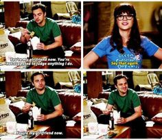 New Girl - Nick & Jess goals Nick Miller, Tv Show Quotes, Movie Quotes, New Girl Nick And Jess, New Girl Quotes, Jessica Day, Fandoms, Hey Girl, Best Shows Ever