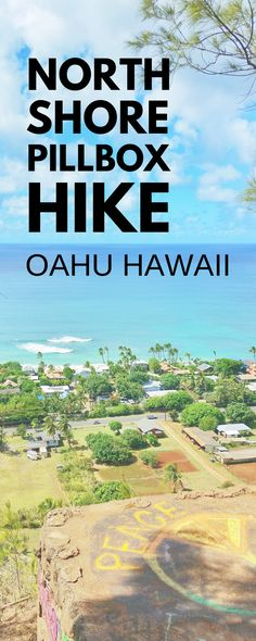 Oahu hiking: North Shore pillbox hike in Oahu Hawaii. Easy to add to the North Shore Hawaii vacation itinerary. This pillbox hike! Near best spots for snorkeling on North Shore. For US hiking trails in Hawaii, tons of hikes to go to from Waikiki and Honolulu. Beaches, shopping, food nearby. Outdoor travel destinations, activities, ideas for bucket list, budget adventures! Think what to wear, what to pack for hiking to add to Hawaii packing list.. #hawaii #oahu