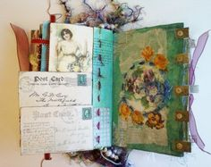 Altered Book Journal Victorian Era Portraits and Vignettes