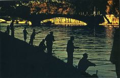 Fishermen along the Seine, Paris, 1954© Ernst Haas