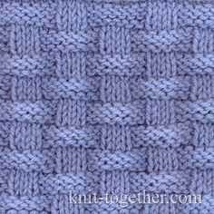 Basket (Wicker) Stitch Pattern